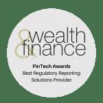 FinTech Awards Best Regulatory Reporting Solutions Provider